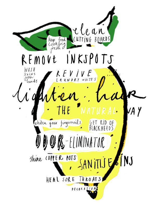 Uses for lemon illustration