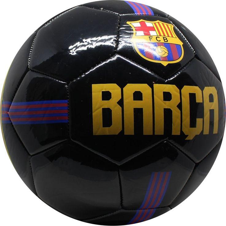 """FC Barcelona voetbalLeuke voetbal van de populaire Catalaanse voetbalclub FC Barcelona! De bal is zwart gekleurd en op de bal staat """"Barca"""". Daarnaast is het logo van de voetbalclub te zien. - Bal barcelona leer groot zwart forza"""