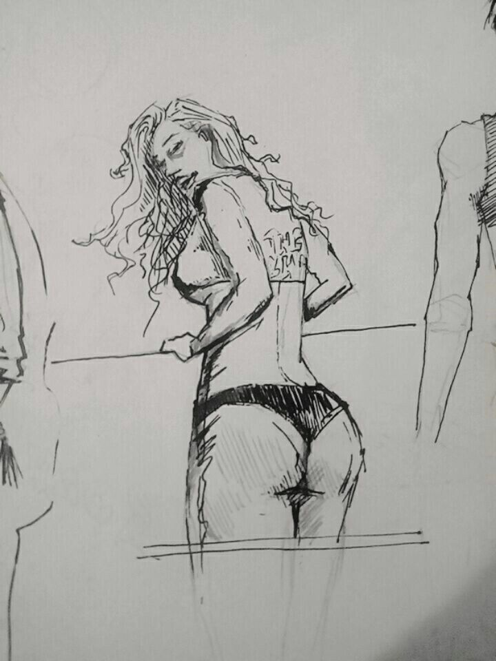 Model bikini draw drawing illustrator illustration sketch