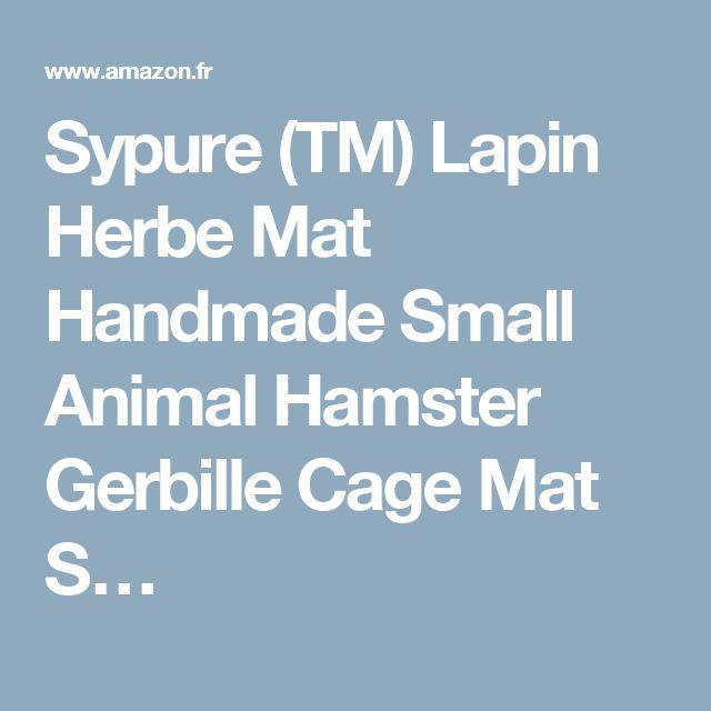 Sypure (TM) Lapin Herbe Mat Handmade Small Animal Hamster Gerbille Cage Mat S…