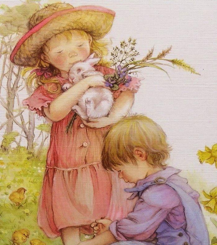 Красивые рисованные открытки, днем рождения