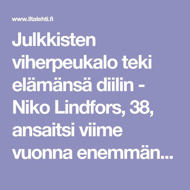 Julkkisten viherpeukalo teki elämänsä diilin - Niko Lindfors, 38, ansaitsi viime vuonna enemmän kuin Suomen rikkain mies