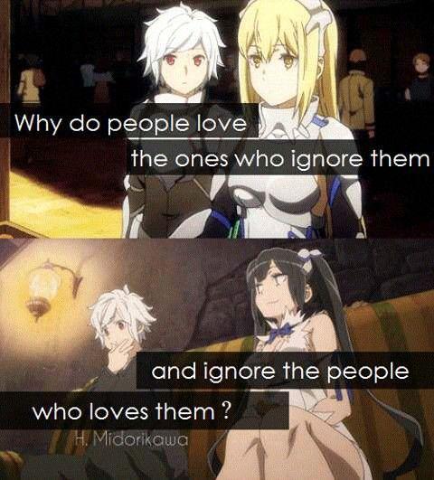 ¿Por qué la gente ama a las personas que los ignoran, pero ignora a las personas que los aman?