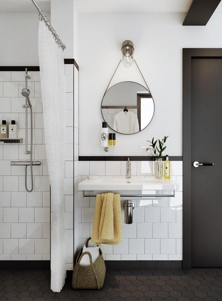 Love how this bathroom and space is at once both vintage and modern.
