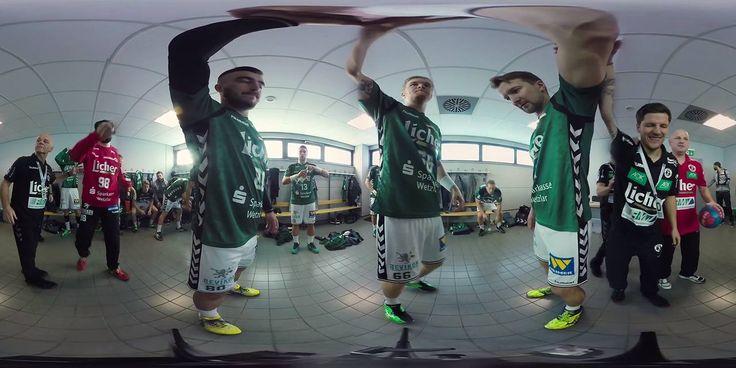 Wie schwört ein Trainer seine Jungs vor einem Spiel in der Handball-Bundesliga ein? Wir waren in der Kabine der HSG Wetzlar vor dem Spiel gegen die SG Flensburg-Handewitt mit der 360-Grad-Kamera dabei.  HSG Wetzlar | DKB Handball-Bundesliga