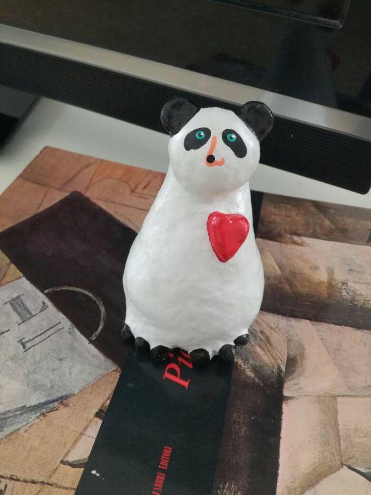 PANDA n.1 #panda#www.catiacannata.it#oggetti design#oggetti fatti a mano#soprammobili moderni# made in italy#regali per anniversario# Natale di CATIACANNATAART su Etsy