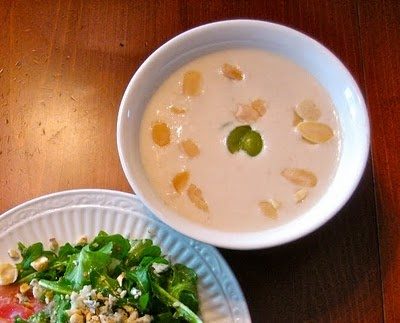 White Gazpacho With Crab Salad Recipe — Dishmaps