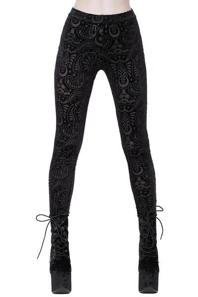 1aad314b49788 Saiph Burnout Velvet Leggings [B]   Pants   Velvet leggings, Black ...