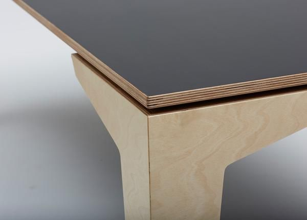 The Floating Dining Table is a clean, modern design suitable for many different dining rooms. The table utilises the exposed laminations of the 24mm European Bi