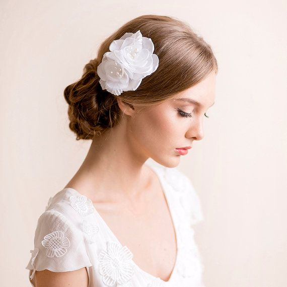 Silk Flower Hair Clip Bridal By Florentes