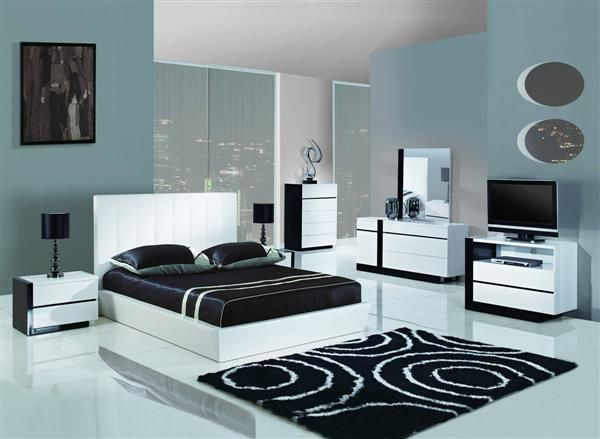 black and white bedroom furniture. trinity white black mdf wood master bedroom set and furniture
