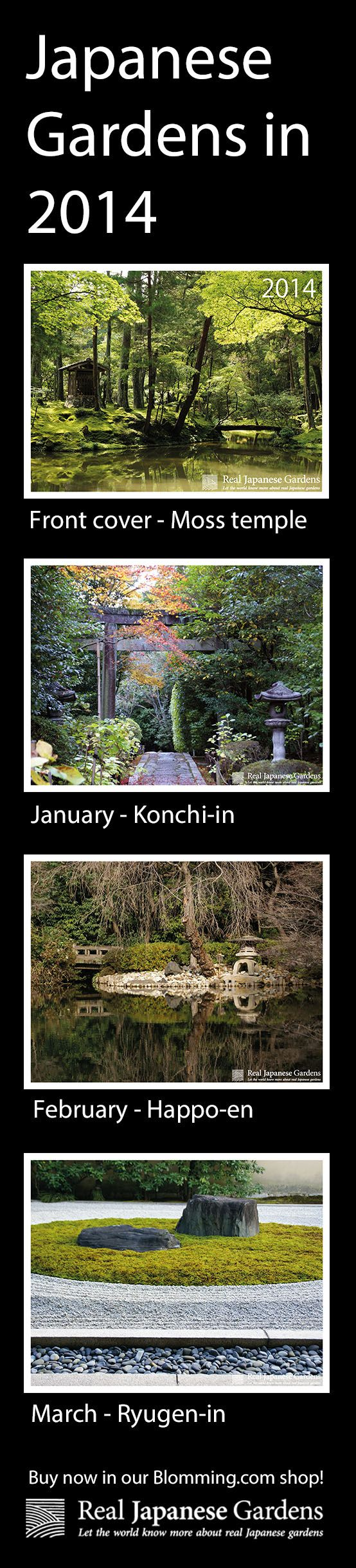 January through March of our Real Japanese Garden Wall Calendar 2014 - available for $12.89 on blomming now: http://www.blomming.com/mm/realjapanesegardens/items/584827