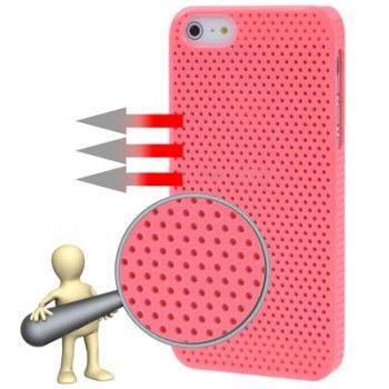 Pink Circle Plastic iPhone Case