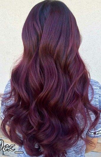 Burgundy wine hair