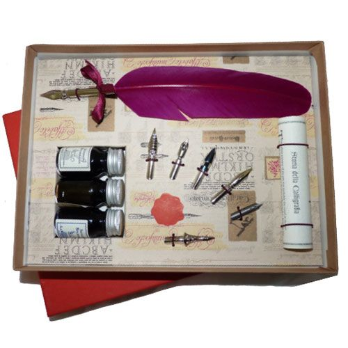 Feather Pen Set with 3 inks at British Museum shop online