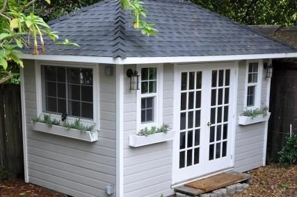 Shed Plans – How To Learn Diy Building Shed Blueprints (link doesn't work, but it's a cute shed)