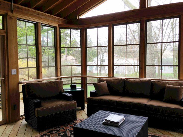 Screen Room with EzeBreeze Windows by Wheaton, IL Porch