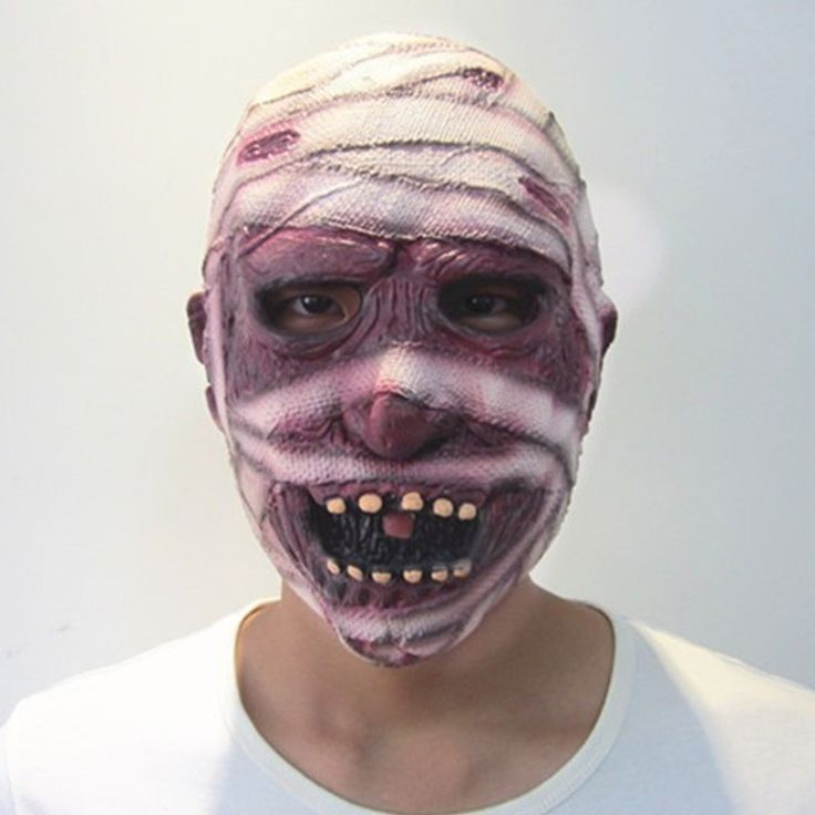 Hot sale Gauze Scar Men Festival Party Halloween Masks High Quality Mask  Best Gifts for Adult ML001