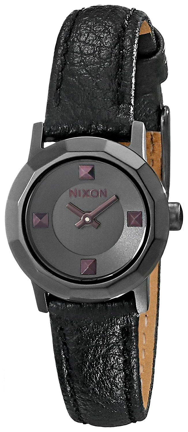 Nixon Women's Mini B Stainless Steel Watch with Genuine Leather Band *** Check out this great watch.