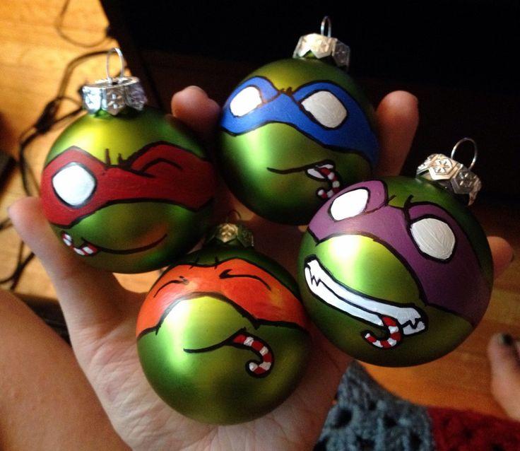 Teenage Mutant Ninja Turtle Christmas Ornaments by colacerise on deviantART