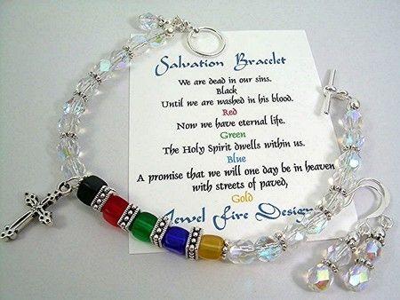 Pulseras de salvación cristal checo cubo Christian Jewelry pendientes de perlas por JewelFireDesigns