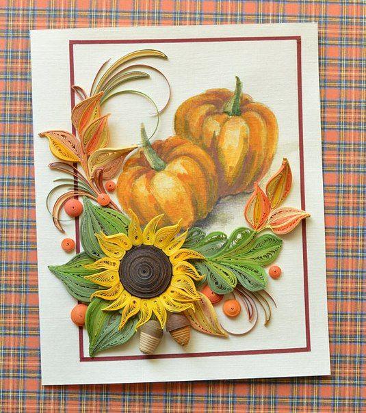 Сарапул набережная, осенние квиллинг открытки