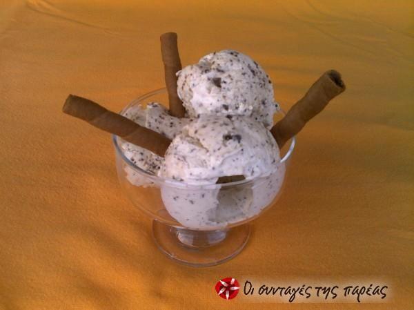 Παγωτό Στρατσιατέλα #sintagespareas