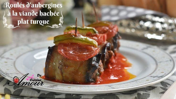 roulés d'aubergines à la viande hachée, plat turque pour ramadan