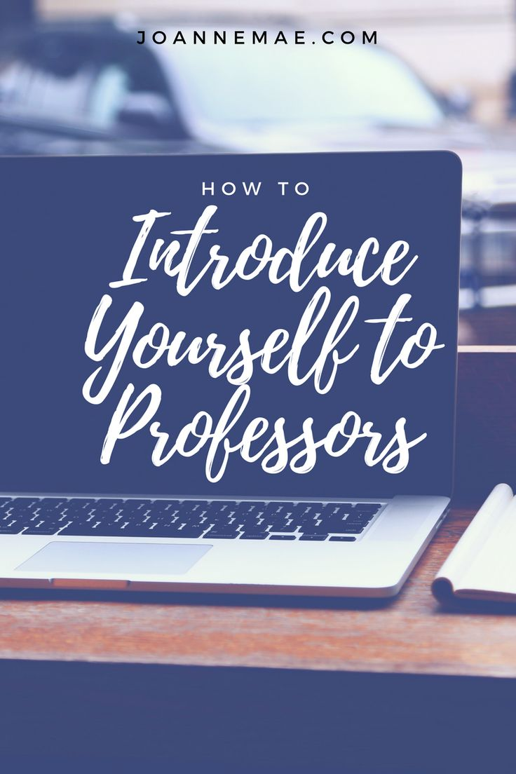 We all know that it's important to get to know our professors. It can be a hard to talk to them. Follow this advice to effectively introduce yourself!