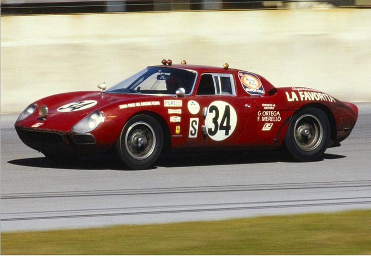https://flic.kr/p/vZvpwC | Ferrari 250 LM at Daytona 1968 | The Ferrari 250 LM of John Gunn, Guillermo Ortega and Fausto Merello at the 1968 Daytona 24.  The car finished 8th overall and first in class.  The car was powered by a 3.3 liter V12.  Porsche would win at Daytona in '68 with a 1-2-3 finish with three 907 LH's.
