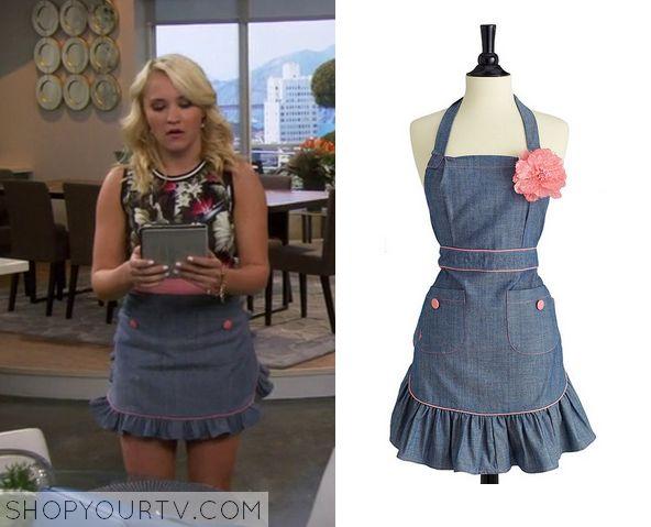 Young & Hungry: Season 1 Episode 2 Gabi's Denim Frill Apron - ShopYourTv