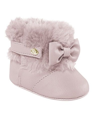 Look what I found on #zulily! Pink Faux Fur Booties by Pampili #zulilyfinds