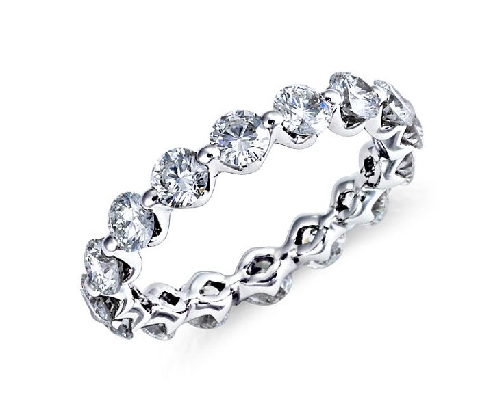Floating Diamond Eternity Ring in Platinum (over 2 ct. tw.)   Blue Nile