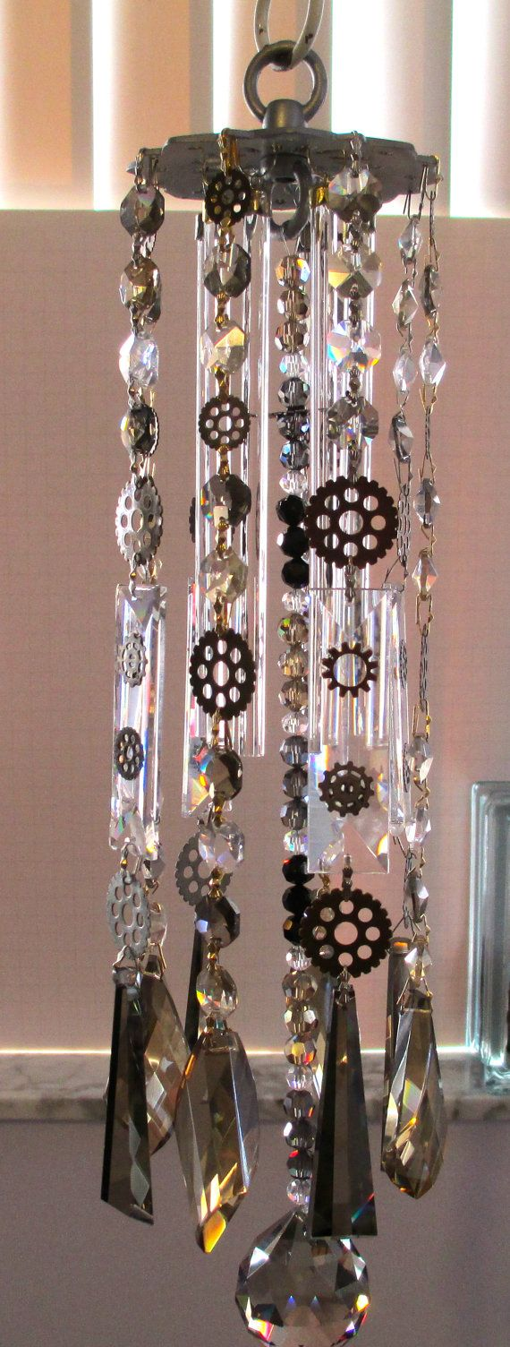 Steampunk Crystal Prism Wind Chime by YourCrystalDream -- not cosplay...but i dont know where to put it. its too cool not to post