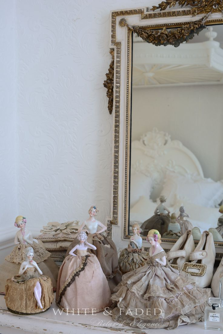 Boudoir half dolls white faded pinterest half dolls shabby and b - Shabby vintage gustavien ...