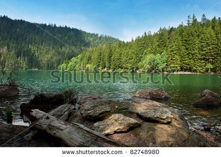 Black Lake, the Largest natural lake in the Czech Republic is located in the Sumava mountains by Filip Fuxa, via Shutterstock