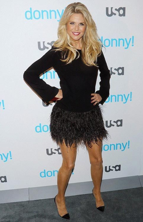 "Christie Brinkley showed off her youthful figure and looks as she attended the premiere of ""Donny!"" at The Rainbow Room in New York City in Nov 2015...."