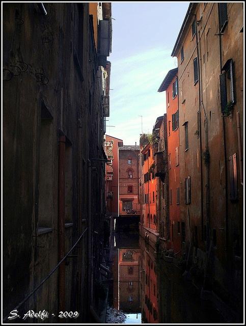 Scorcio sul Reno, Bologna