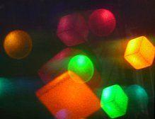 """Broadway Boogie Woogie"" Rudie Berkhout hologram artist - 8"" x 10"" Reflection hologram - 1983"