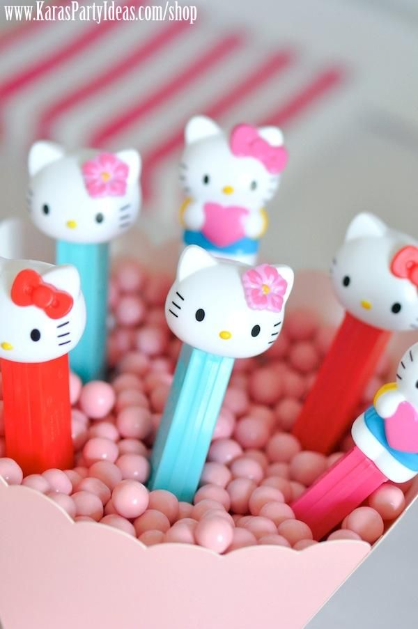 Hello Kitty Birthday Party via Kara's Party Ideas Ideas -www.KarasPartyIdeas.com-shop-24