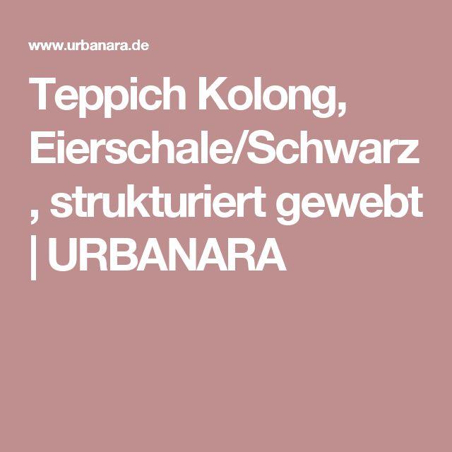 Teppich Kolong, Eierschale/Schwarz, strukturiert gewebt | URBANARA