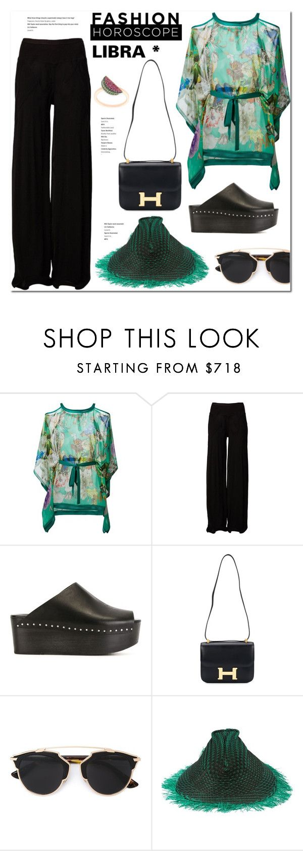"""Libra"" by stellaasteria ❤ liked on Polyvore featuring Roberto Cavalli, Rick Owens, Hermès, Christian Dior, Issey Miyake and Khai Khai"
