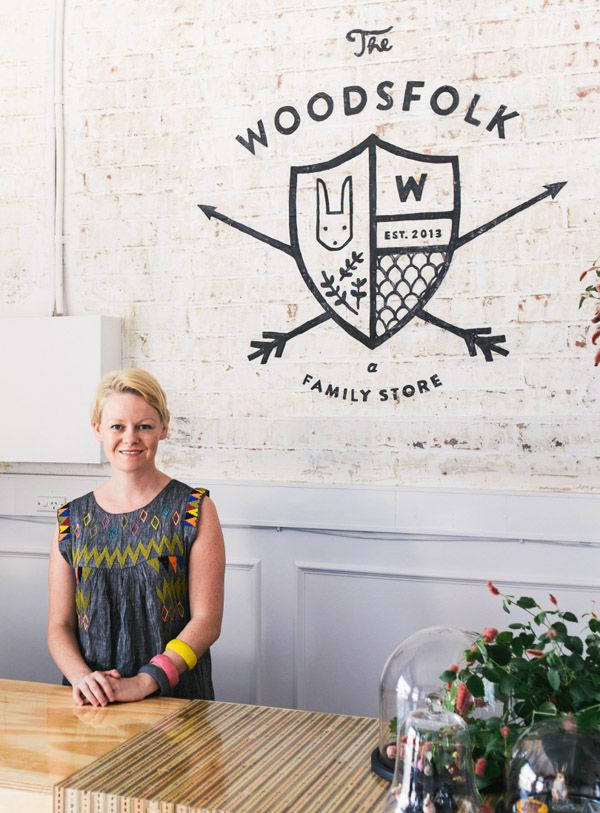 Amber Clohesy of The Woodsfolk.  We also love The Woodsfolk logo, designed by Amber's favourite graphic design agency, Stitch Design in South Carolina. Photo - Brooke Holm.