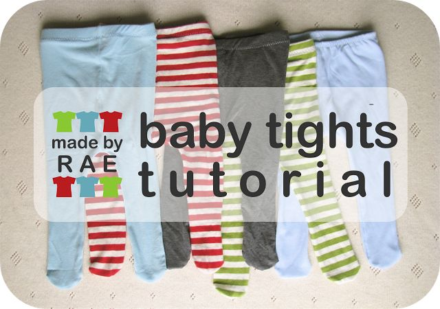 """""""This tutorial will show you how to make a pair of tights by tracing another pair"""" (also with pattern in size 3-6 months / 6-12 months size by modifications)."""
