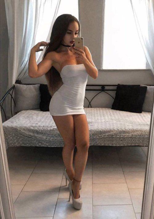 Short Skirt High Heels  Sexy Babes - Selfies  Sexy White -3822