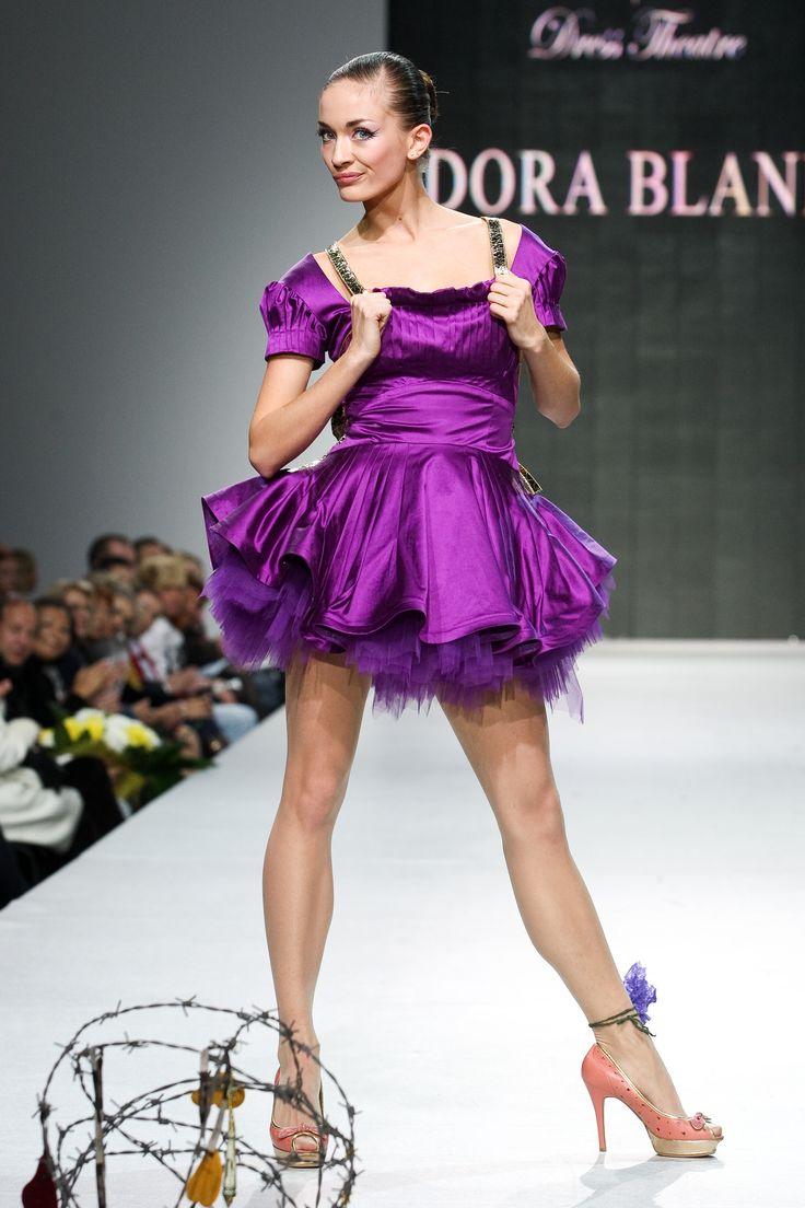 Oxumoro Collection by Dora Blank Couture. Коктейльное платье из тафты. Cocktail dress.