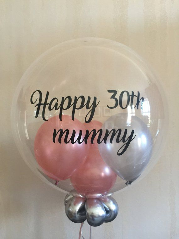 Personalised Rose Gold And Silver Balloons Birthday 40th Decoration Gift For Wife Fiancee Mum Friend
