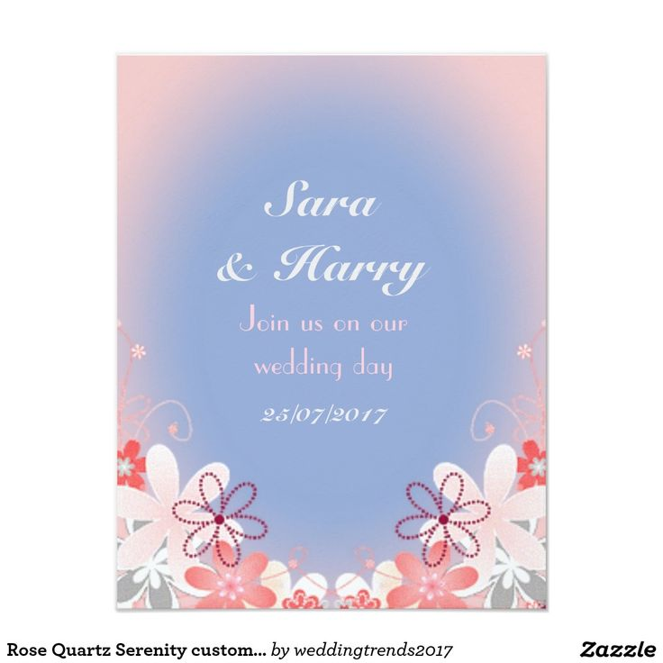 Rose Quartz Serenity custom wedding #weddingtrends2017 #rosequartzserenity #weddings #rosequartz #serenit #pinkbluewedding
