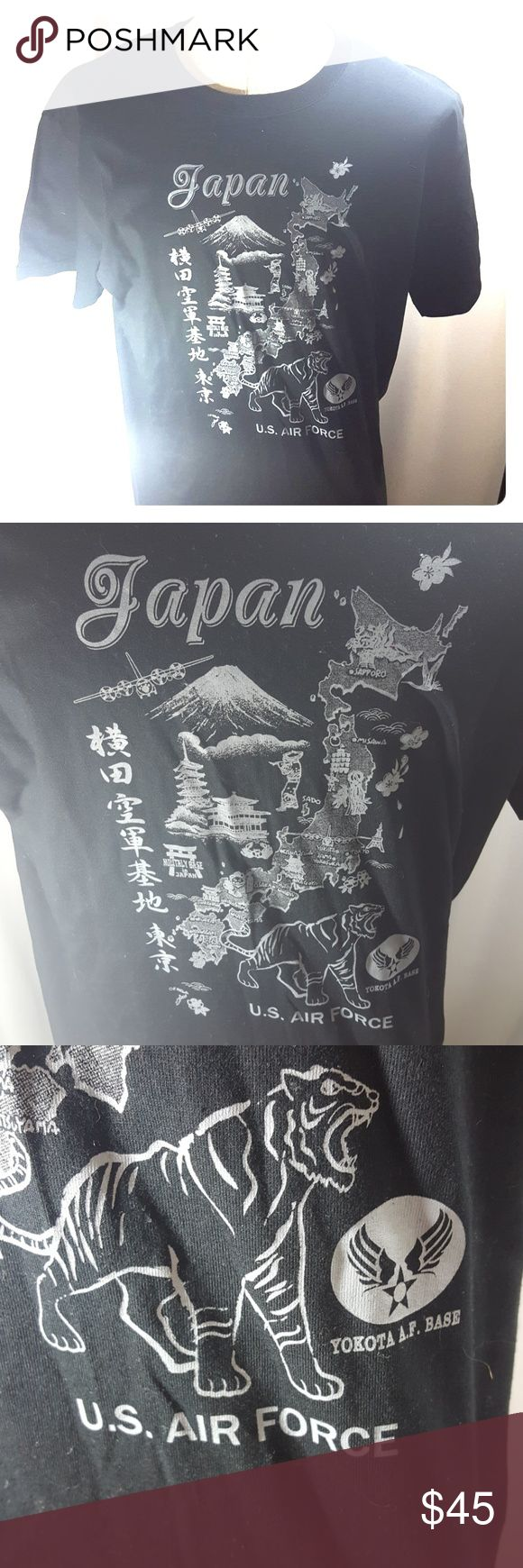 Japan Yokota War Tigers U.S Air force Base Tee Approx. Measurements   Pit to pit 22 Top collar to hem 29  Fits like a large  Machine washable  100% cotton  Black & White   Johnny Cash  Normal wear Gently used  Size may vary   Very good condition   Great piece for any collector or fan   Shipped with care Buy with confidence  Reasonable offers  Fast shipping  Please review all pictures and descriptions to verify what you are buying   Thank you for checking out my listings today & don't forget…