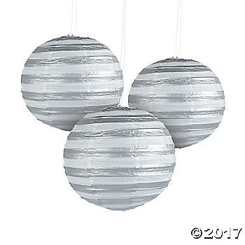 These silver foil striped lanterns are sure to be the perfect party favor to create a whimsical look at your baby shower, birthday party or wedding! (6 pcs. ...